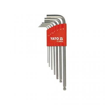 Bộ lục giác đầu bi dài hệ mét 7 chi tiết Yato YT-58824