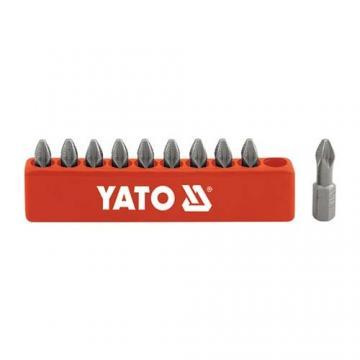 BỘ MŨI VÍT (+) PH0 - LỤC GIÁC 1/4'' YATO 10 CHI TIẾT YT-0473