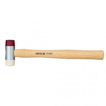 Búa 2 đầu nhựa PU trắng đỏ Yato YT-4630
